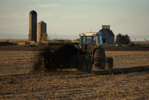 Biosolids can be applied to farmland as a substitute for fertilizer. City of Geneva photo.