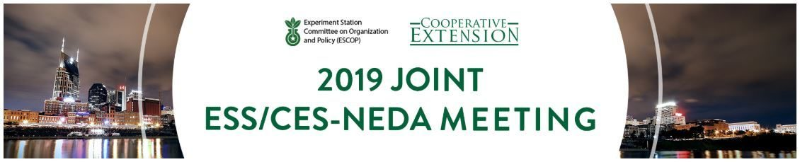 2019 Joint ESS/CES-NEDA Meeting – September 23-26, 2019