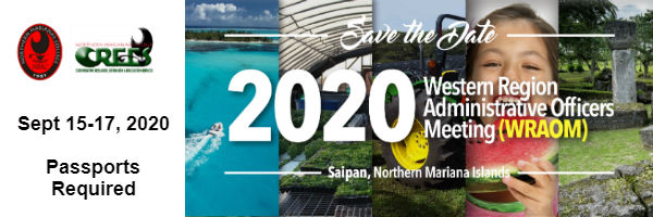 Save the Date! 2020 Western Region Administrative Officers Meeting